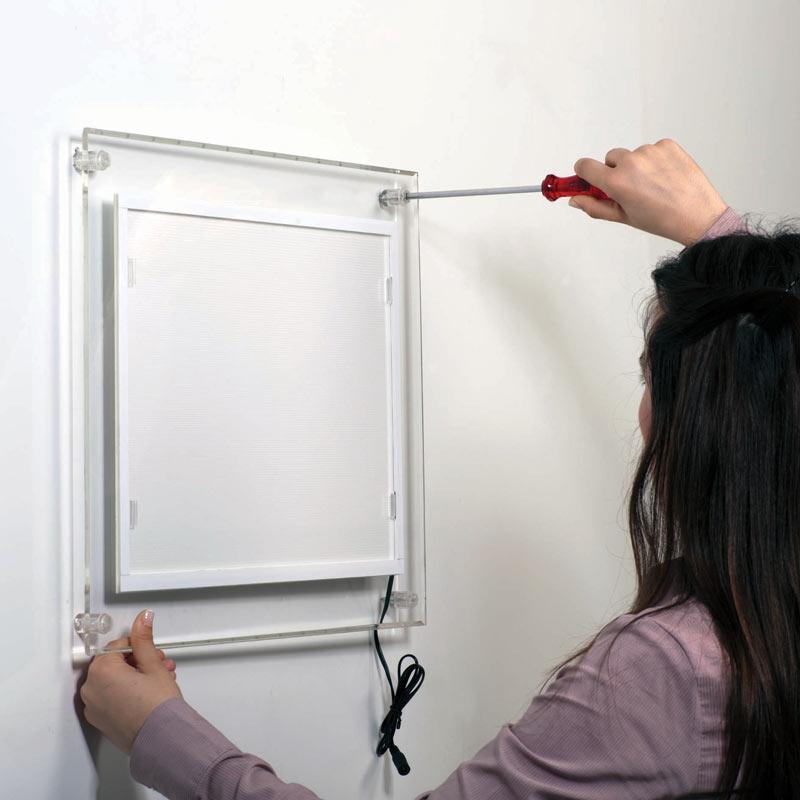 DIN A3 Acryl LED Leuchtrahmen / LED Bilderrahmen einseitig - 297x420 mm