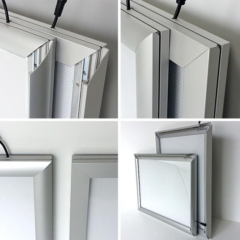 leuchtrahmen led rahmen indoor mit klapprahmen nach ma. Black Bedroom Furniture Sets. Home Design Ideas