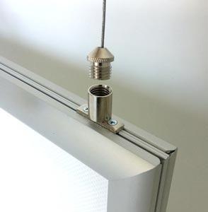 Leuchtrahmen / LED Rahmen Indoor mit Klapprahmen, zweiseitig, nach ...
