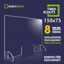 schutzscheibe 150x75cm, 8mm